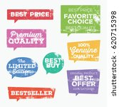 set of retail tags. colorful... | Shutterstock .eps vector #620715398