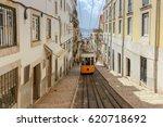 lisbon. old tram. | Shutterstock . vector #620718692