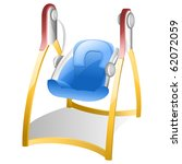 Baby Swing In Blue With Red An...