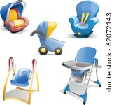 Variety Of Baby Gear Icons...
