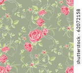 roses and buds  seamless... | Shutterstock .eps vector #62072158