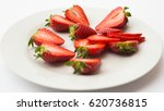 fresh organic strawberries... | Shutterstock . vector #620736815