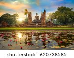Wat Mahathat Temple In The...