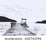 Wonderful Sea View. Pier Sketc...