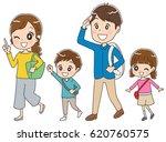 traveling family | Shutterstock .eps vector #620760575