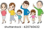 three generation families are... | Shutterstock .eps vector #620760632