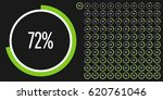 set of circle percentage... | Shutterstock .eps vector #620761046