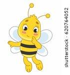 sweet cute little cartoon bee | Shutterstock .eps vector #620764052