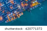shipyard with shipping... | Shutterstock . vector #620771372