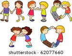 illustration of a kids on a... | Shutterstock . vector #62077660