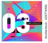3 years anniversary celebration ...   Shutterstock .eps vector #620776982