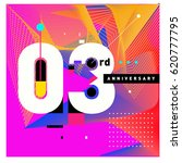 3 years anniversary celebration ... | Shutterstock .eps vector #620777795
