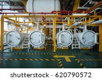 offshore construction platform... | Shutterstock . vector #620790572