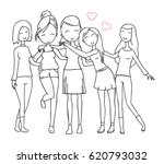 vector illustration of happy... | Shutterstock .eps vector #620793032