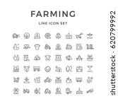 set line icons of farming and... | Shutterstock .eps vector #620799992