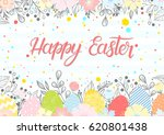 easter typography.happy easter  ... | Shutterstock .eps vector #620801438