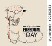 world press freedom  day poster | Shutterstock .eps vector #620803886