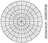 blank polar graph paper  ... | Shutterstock .eps vector #620814938