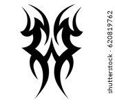 tattoo sketch tribal vector... | Shutterstock .eps vector #620819762