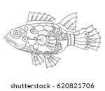 steam punk style fish.... | Shutterstock .eps vector #620821706