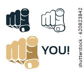 finger pointing at you   vector | Shutterstock .eps vector #620823842