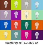warhol light bulbs | Shutterstock .eps vector #62082712