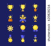 vector trophy  medals  cups and ... | Shutterstock .eps vector #620828216