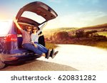 summer time and car trip  | Shutterstock . vector #620831282
