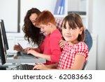 teacher and children learning... | Shutterstock . vector #62083663