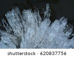crystals of river ice close up. ... | Shutterstock . vector #620837756