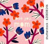 happy mother's day vector... | Shutterstock .eps vector #620838146