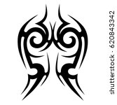 tattoo sketch tribal vector... | Shutterstock .eps vector #620843342
