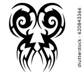 tribal tattoo art designs.... | Shutterstock .eps vector #620843366
