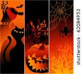 three halloween banners | Shutterstock .eps vector #62084953