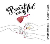 beautiful manicure ... | Shutterstock .eps vector #620849606