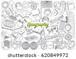 hand drawn geography doodle set ... | Shutterstock .eps vector #620849972