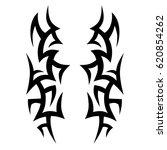 tattoo sketch tribal vector... | Shutterstock .eps vector #620854262