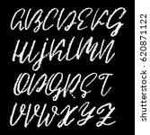 handwritten vector chalked... | Shutterstock .eps vector #620871122