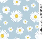 white daisy flower seamless... | Shutterstock .eps vector #620881478
