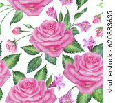 seamless floral pattern with... | Shutterstock . vector #620883635