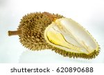 king of fruits  durian on white ... | Shutterstock . vector #620890688