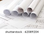 a architect's workspace with... | Shutterstock . vector #62089204