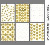 set of romantic greeting card ...   Shutterstock .eps vector #620894582