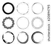 vector set of of black circle... | Shutterstock .eps vector #620894795