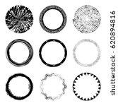 vector set of of black circle...   Shutterstock .eps vector #620894816