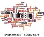 fundraising  word cloud concept ... | Shutterstock . vector #620895875