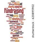 fundraising  word cloud concept ... | Shutterstock . vector #620895902