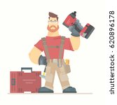 construction worker flat vector ...