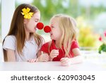 happy little sisters wearing... | Shutterstock . vector #620903045