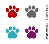 Heart Paw Print Set Logo...